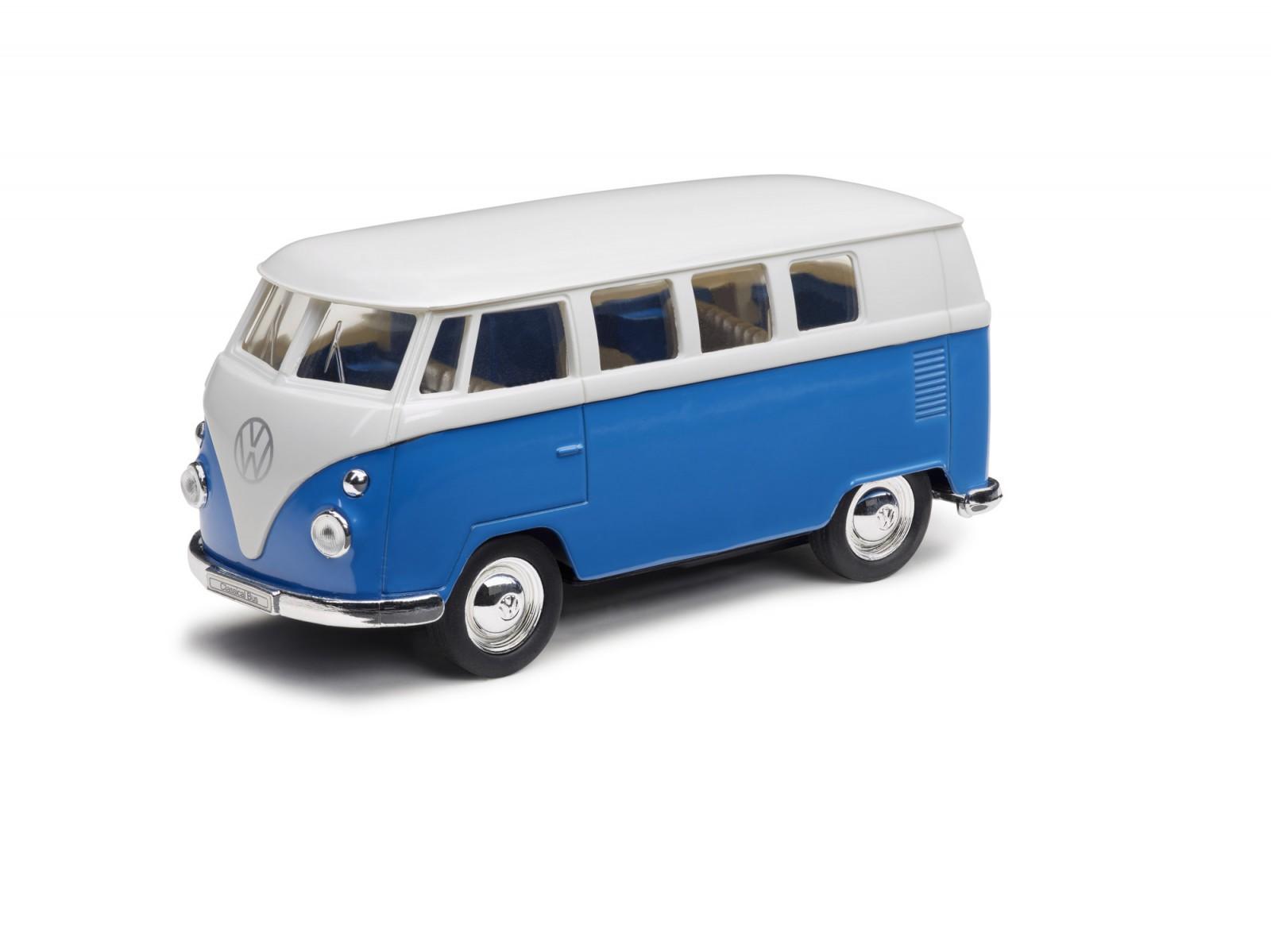 original vw volkswagen t1 bulli modellauto in blau mit. Black Bedroom Furniture Sets. Home Design Ideas